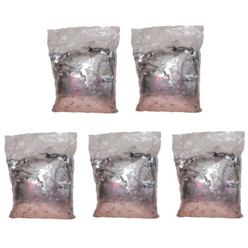 kit 5 pacote papel picado chuva de prata maquina sky paper