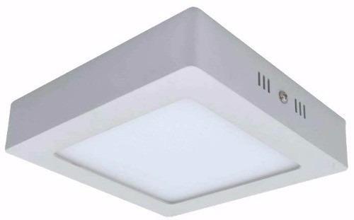 kit 5 paineis plafon de led 25w quadrado branco frio sobrepo