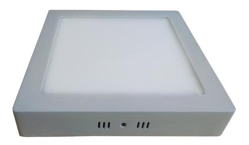 kit 5 painel plafon de led 18w sobrepor quadrado + reator