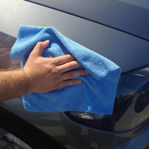 kit 5 panos microfibra flanela lava carro seco * anti-risco