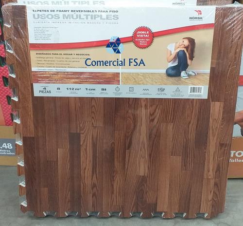 kit 5 paquetes piso foamy tipo madera y marmol 20 piezas msi