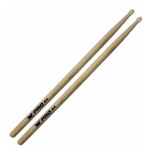 kit 5 pares baqueta 5a ponta de madeira x-pro c. ibanez