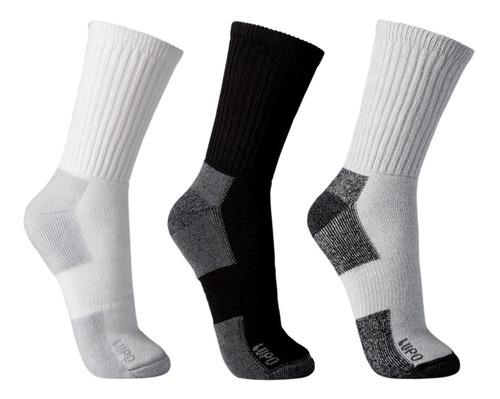 kit 5 pares meias lupo cano longo 3235-002 algodão atoalhada