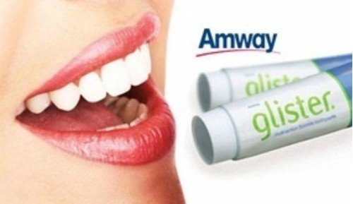 kit 5 pasta de dente glister ( eua) 200g creme dental amway