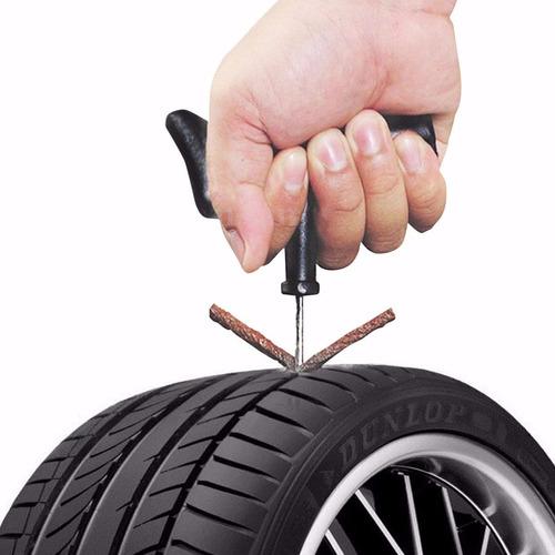 kit 5 peças reparo borracheiro p/ pneus s/ câmara carro moto