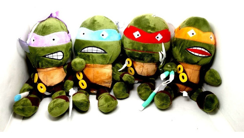 kit 5 pelúcias músical tartarugas ninjas