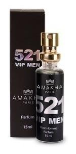kit 5 perfumes 521 vip men  inspiração 212  vip men amakha
