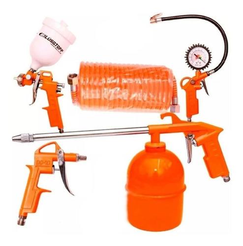 kit 5 piezas para compresor de aire lusqtoff aa-5000k gtia
