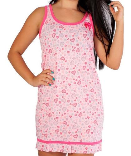 kit 5 pijamas tipo camisolas curto adulto plus size atacado