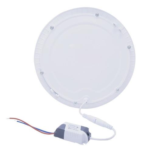 kit 5  plafon painel 25w led embutir  branco frio redondo