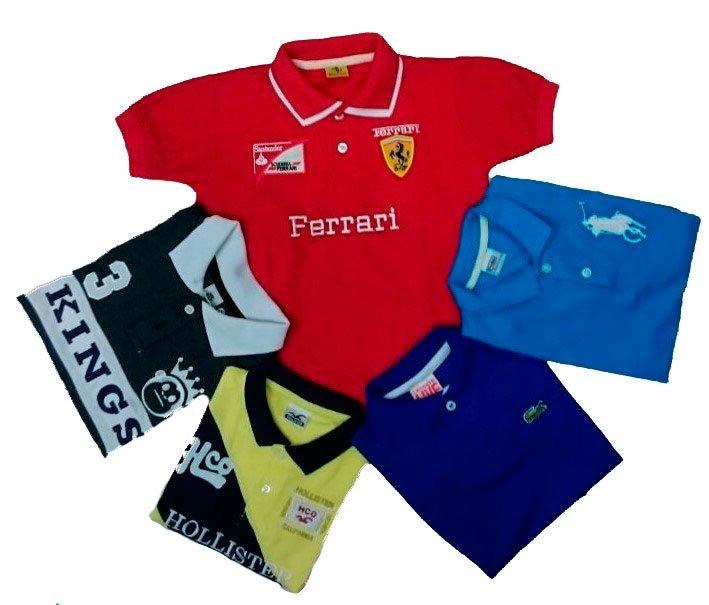 Kit 5 Polo Camisas Camisetas Infantil E Juvenil Menino.1ao16 - R ... 67fd1538901