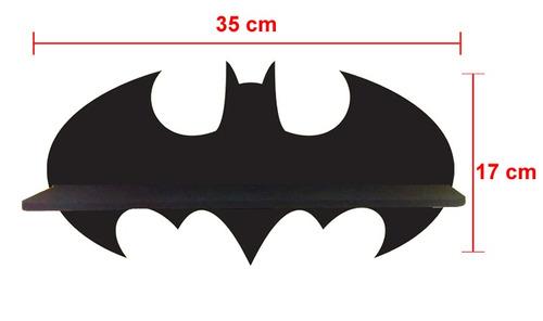 kit 5 prateleiras batman exposição e decoração lego mdf cru