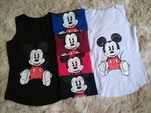 27683e5b3d Kit 5 Regata Feminina T-shirts (várias Estampas)- Atacado - R  79