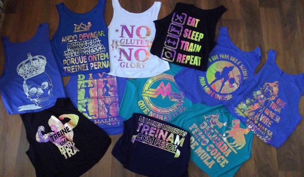 91e5c41666555 kit 5 regatas feminina blusinha fitness academia ginasticas. Carregando  zoom.