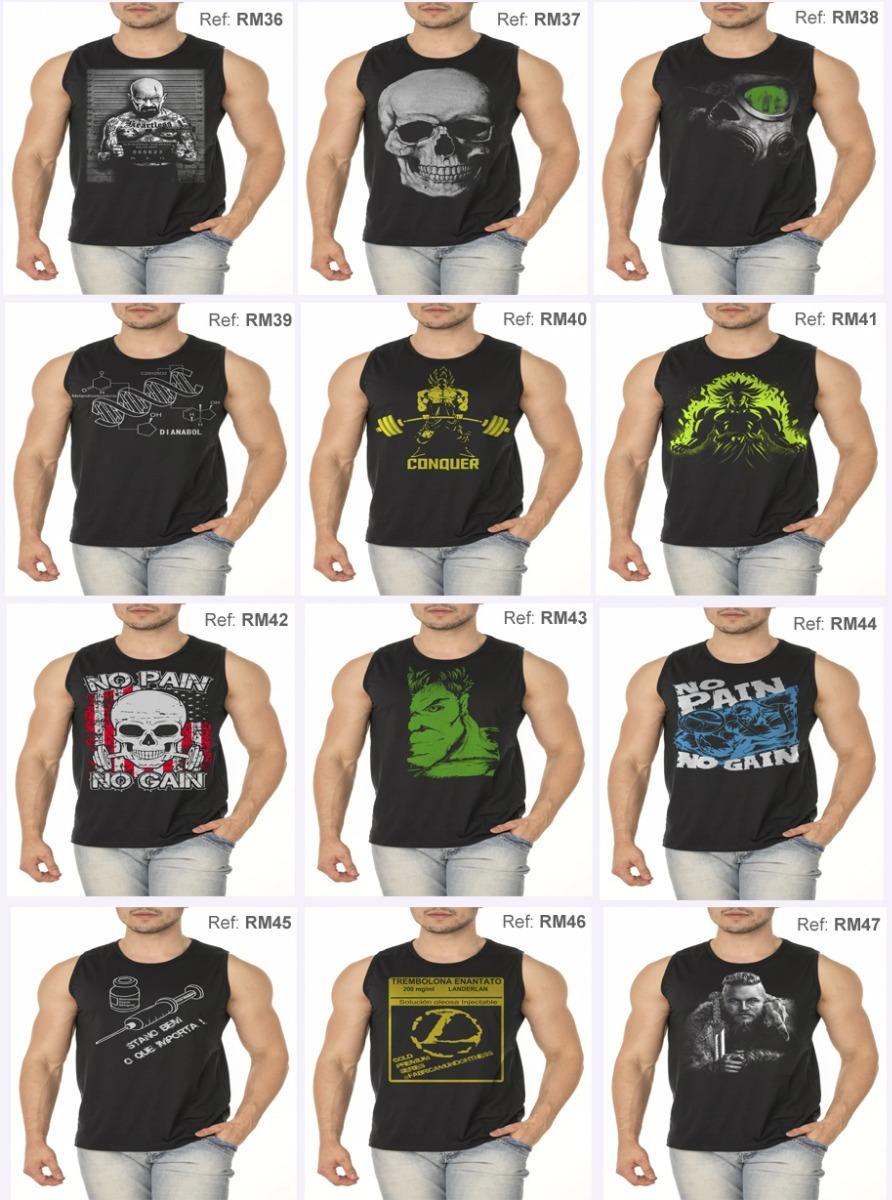 df7449d8471e9 Kit 5 Regatas Machão Tradicional Camiseta Treino Musculação - R  120 ...