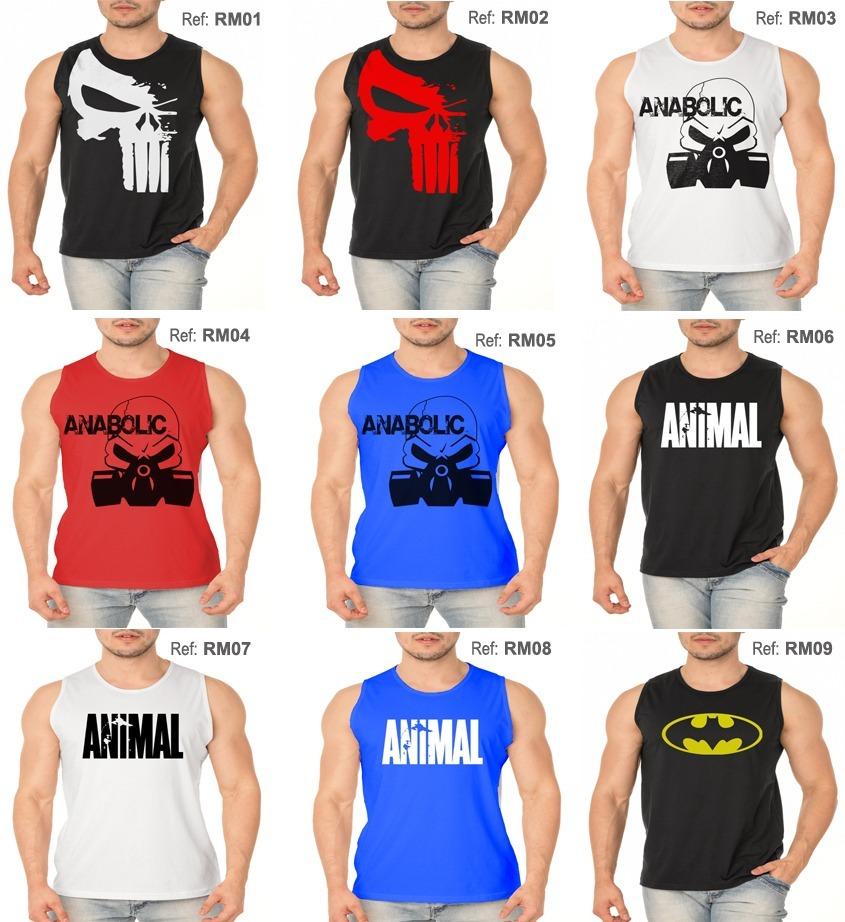 Kit 5 Regatas Machão Tradicional Camiseta Treino Musculação - R  120 ... 6c44ec4418c30