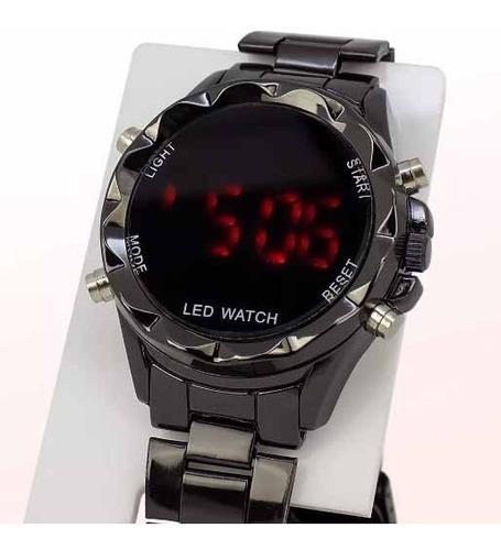 kit 5 relógio feminino digital aço led atacado revenda