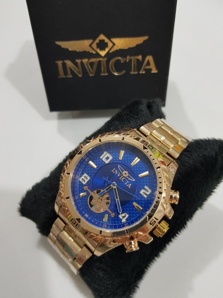 6d7c5d493fe kit 5 relógio masculino dourado prata pesado barato atacado. Carregando zoom .