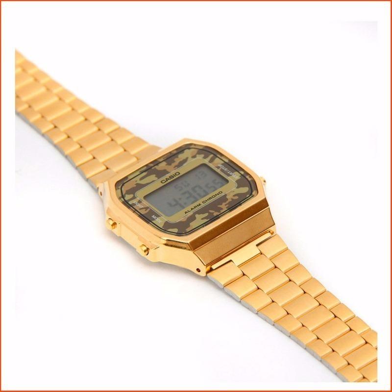 5d8bc297eeb kit 5 relógios aço retro casio dourado prata preto rose. Carregando zoom.