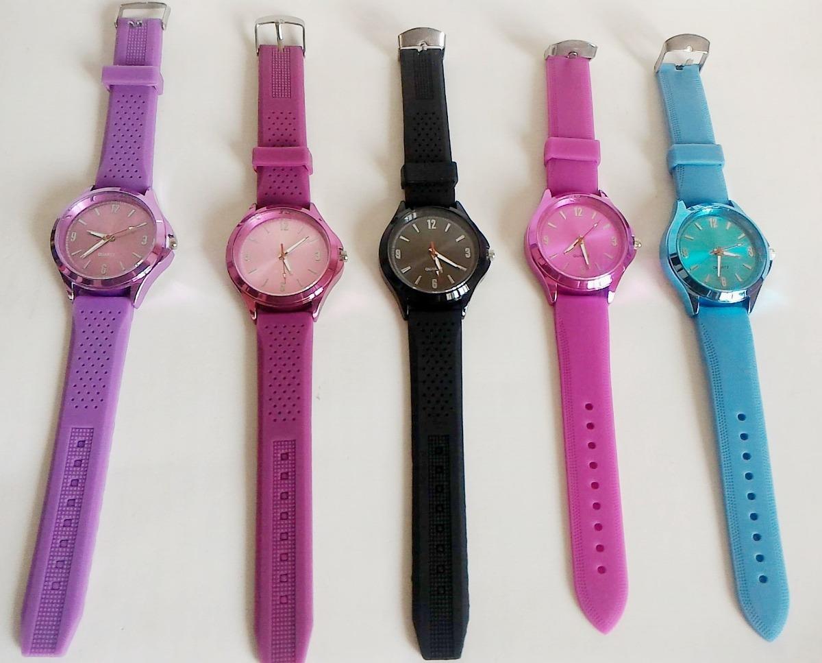 07fad8a7057 kit 5 relógios feminino quartz pulseiras borracha p  revenda. Carregando  zoom.