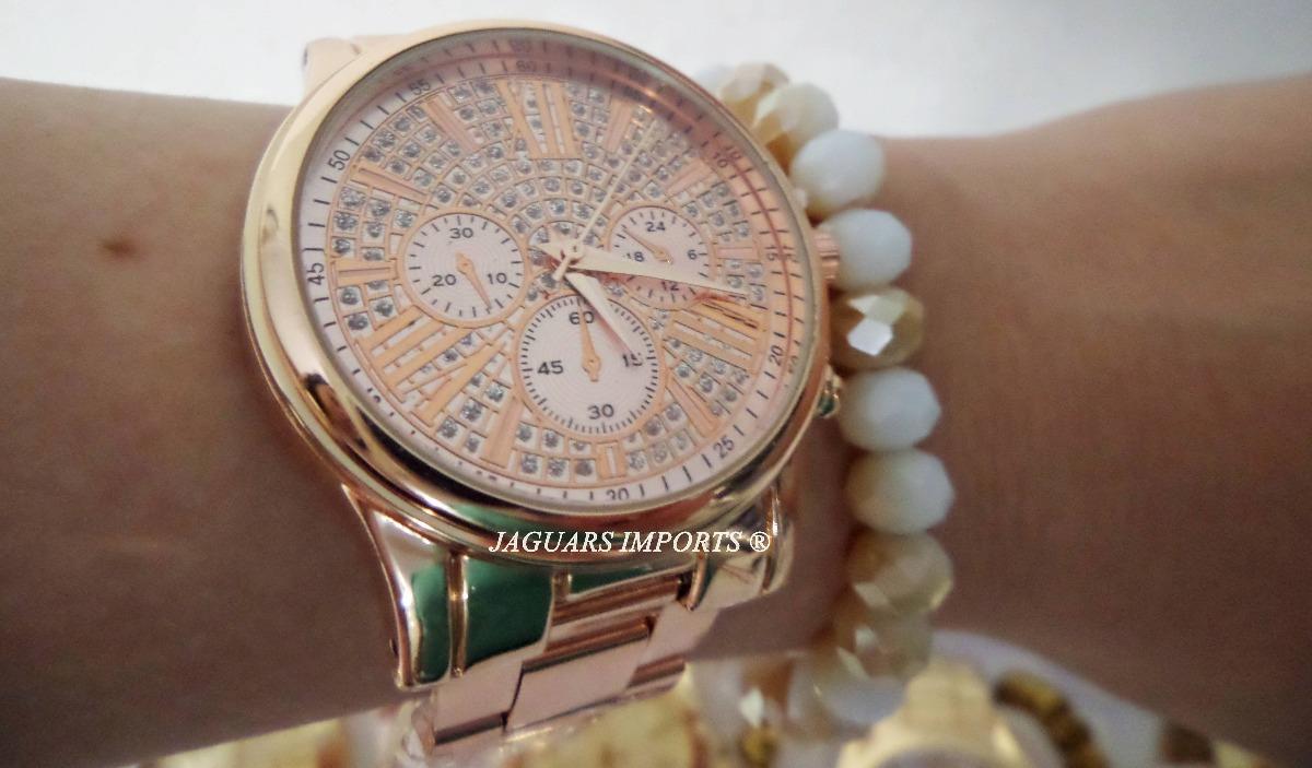 b71b3290e25 kit 5 relógios femininos c pulseira + caixa barato revenda. Carregando zoom.