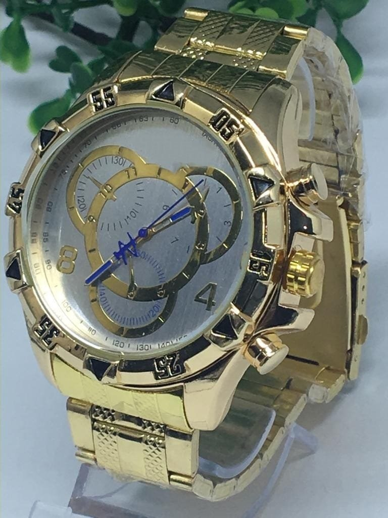 94614f85835 Kit 5 Relogios Masculino Grande Prata Dourado Atacado - R  141