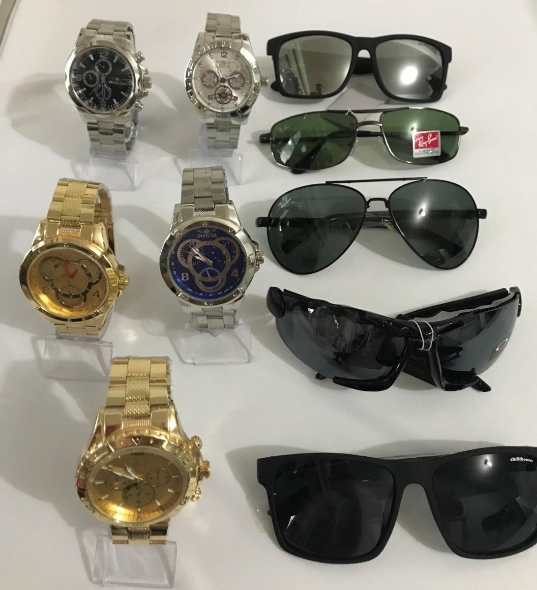 3a220a7a9641a Kit 5 Relógios Masculinos + 5 Óculos De Qualidade P  Revenda - R ...