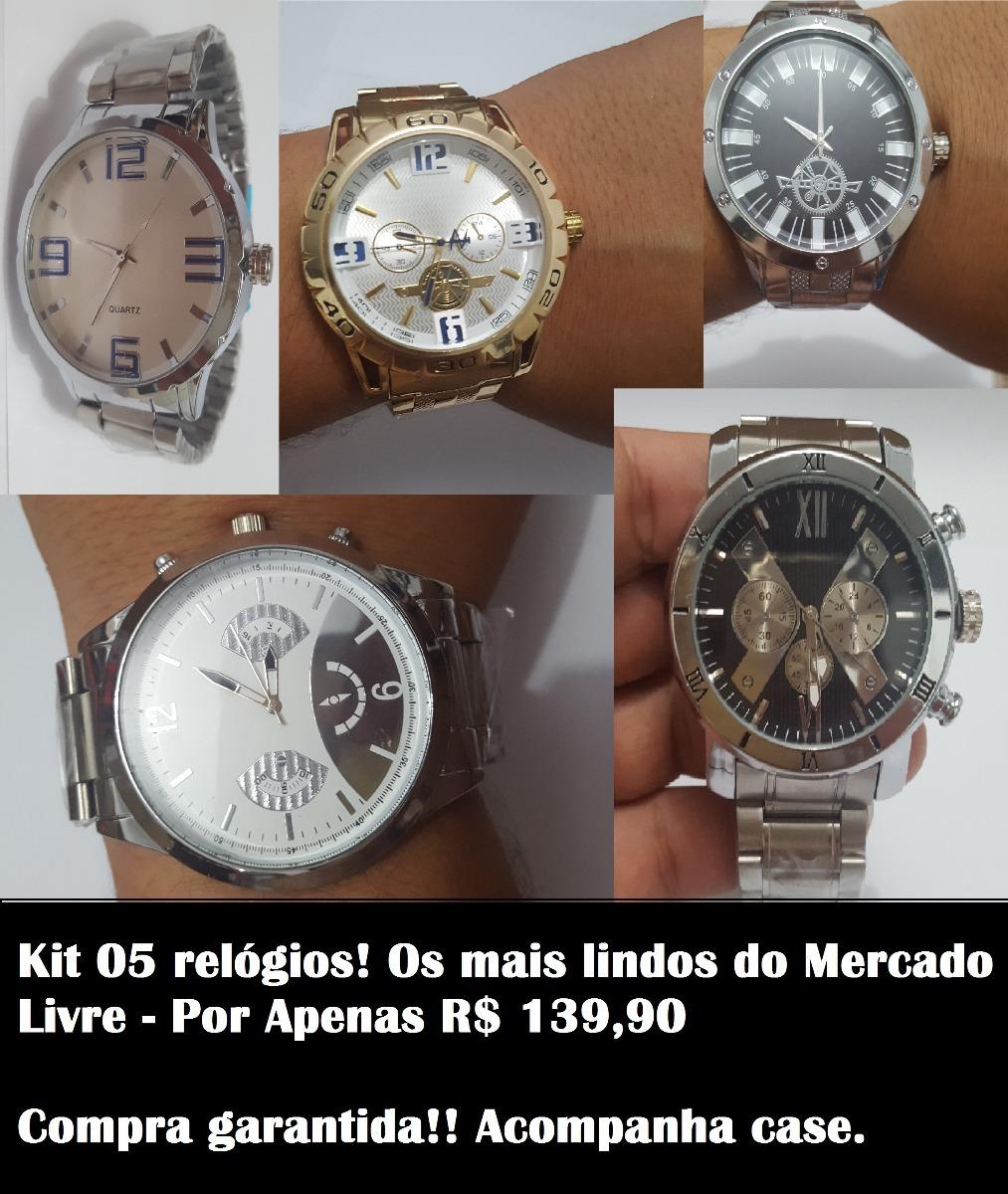 f35dc72a54b Kit 5 Relógios Masculinos - Atacado E Revenda - - R  426