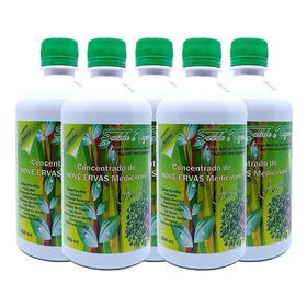 Kit 5 Remédio Natural Combate 150 Doenças - 9 Ervas 500ml