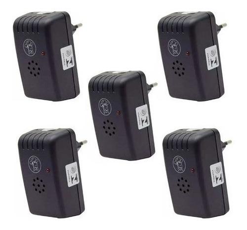 kit 5 repelente eletrônico insetos ratos morcegos