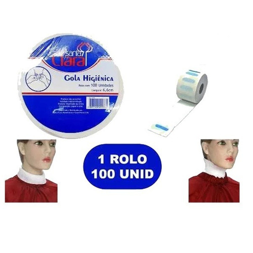 kit 5 rolos gola higiênica santa clara com 100 un