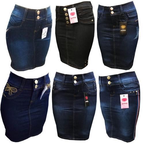 kit 5 saia jeans evangelica com lycra varios modelos oferta