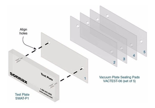 kit 5 tapetes pad para vacuum - test sonnax