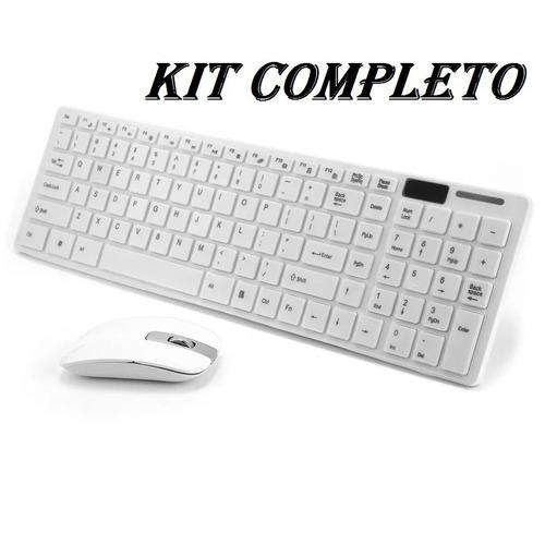 kit 5 teclado multimidia +mouse wireless bt sem fio barato