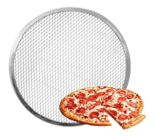 kit 5 telas para pizza 40cm em alumínio