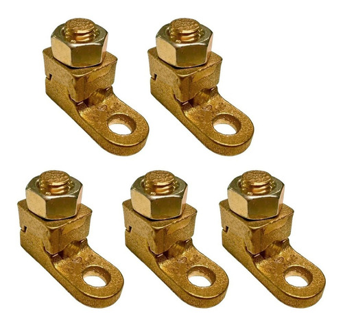 kit 5 terminais sapata aperto pressão p/ cabos 95mm fundido