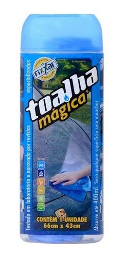 kit 5 toalha magica original fixxar 66x43cm pote