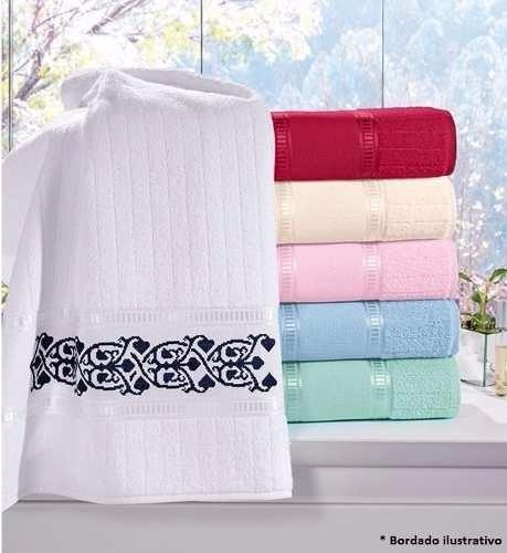 kit 5 toalhas de lavabo pinta e borda caprice plus- buettner