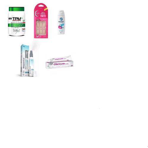kit 5 tpm mascara+flaces unhas+bepantol+anasol fps+claricure