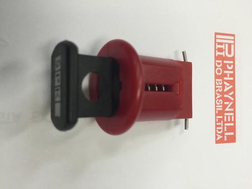 kit 5 travas cadeado para mini disjuntor din