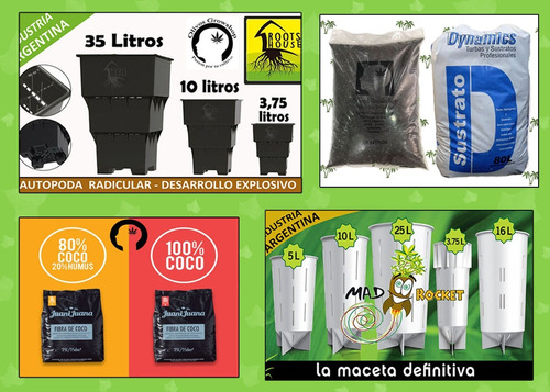 kit 5 trimix 250ml a pro f candy n  - olivos grow