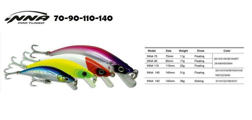 kit 5 und isca inna pro tuned 140 floating 31g marinesports