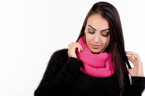 kit 5 uni. cachecol manta maxi gola feminina diversas cores