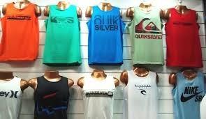 8b3093b0f8f19 Kit 5 Unidades Camisetas Regatas Estampadas Várias Marcas - R  89
