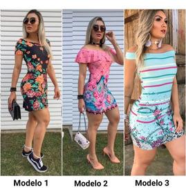681221246 Kit Vestido Tubinho Atacado - Vestidos Femeninos Casual Curto com o  Melhores Preços no Mercado Livre Brasil