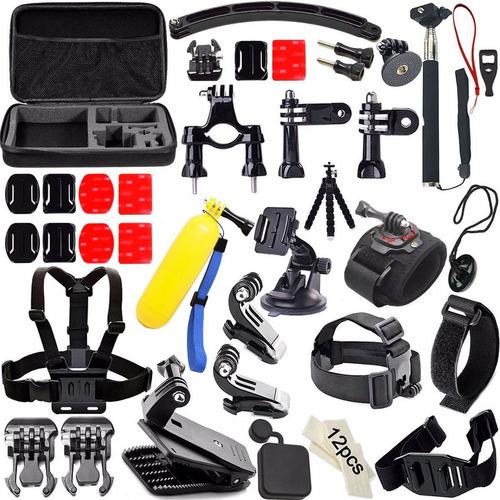 kit 50 accesorios para camara gopro hero 5 4 3 2 1 go pro