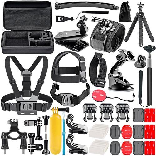kit 50 accesorios para cámara gopro hero 7 6 5 4 3 o session
