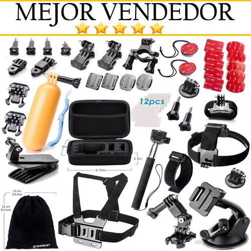 kit 50 accesorios para camaras gopro hero5 hero4 hero3 hero2