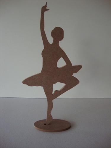 kit 50 bailarinas em mdf  de 6mm - 30 cm altura