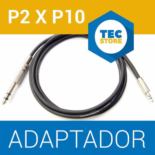 kit 50 cabos p2 p10 atacado + frete cabo estéreo 2 metros